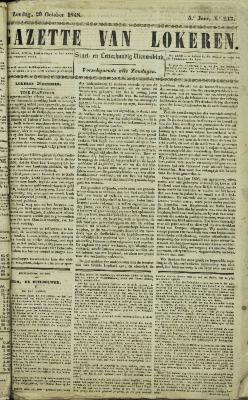Gazette van Lokeren 29/10/1848