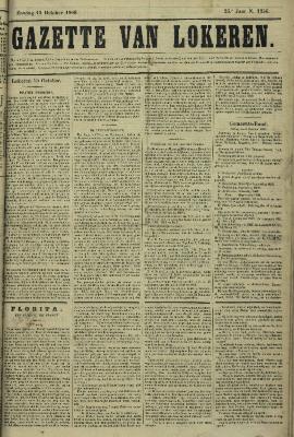 Gazette van Lokeren 11/10/1868