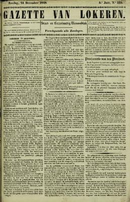 Gazette van Lokeren 24/12/1848