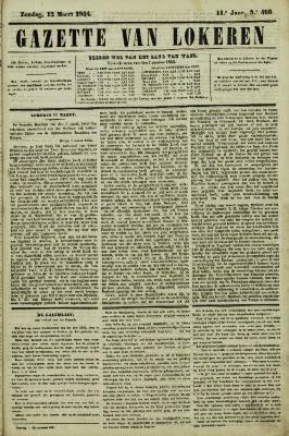 Gazette van Lokeren 12/03/1854