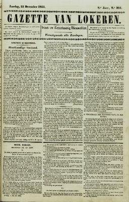 Gazette van Lokeren 21/12/1851
