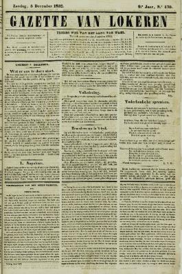 Gazette van Lokeren 05/12/1852