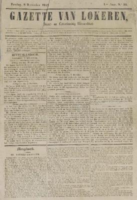 Gazette van Lokeren 08/12/1844