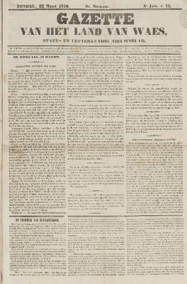 Gazette van het Land van Waes 22/03/1846