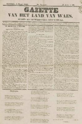 Gazette van het Land van Waes 08/03/1846