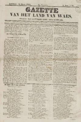 Gazette van het Land van Waes 15/03/1846
