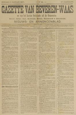 Gazette van Beveren-Waas 17/01/1897