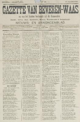 Gazette van Beveren-Waas 04/03/1894