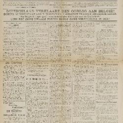 Gazette van Beveren-Waas 09/08/1914