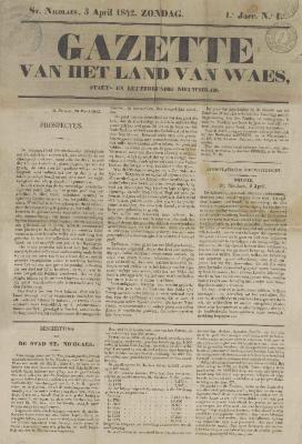 Gazette van het Land van Waes 03/04/1842