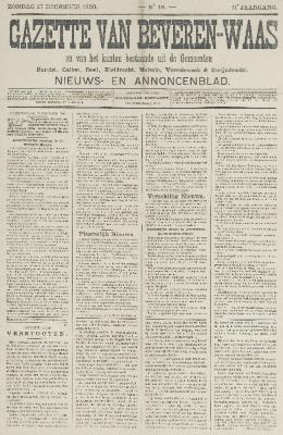 Gazette van Beveren-Waas 17/12/1893