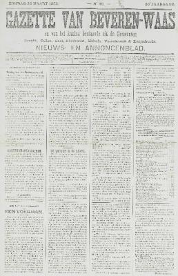 Gazette van Beveren-Waas 22/03/1903