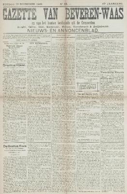 Gazette van Beveren-Waas 12/12/1909