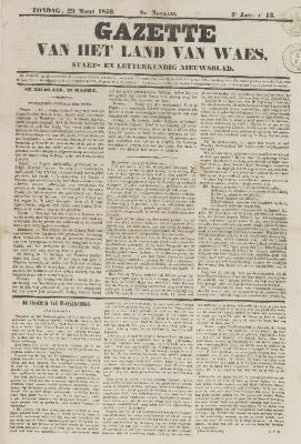 Gazette van het Land van Waes 29/03/1846