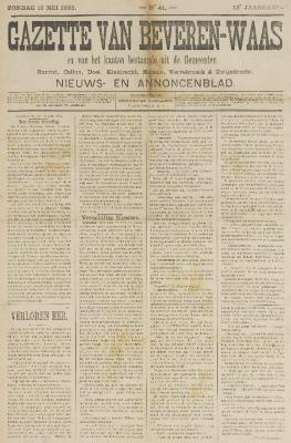 Gazette van Beveren-Waas 19/05/1895