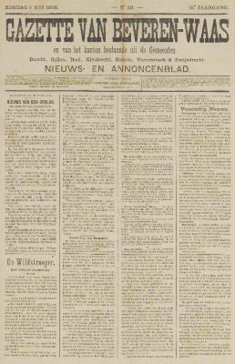 Gazette van Beveren-Waas 01/05/1898