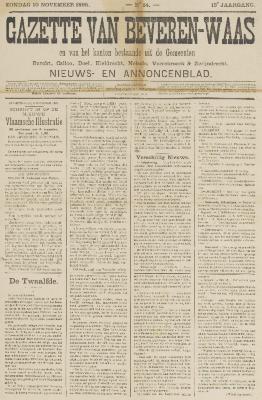 Gazette van Beveren-Waas 10/11/1895