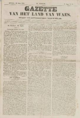 Gazette van het Land van Waes 26/04/1846