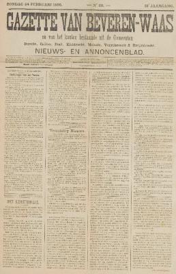 Gazette van Beveren-Waas 24/02/1895