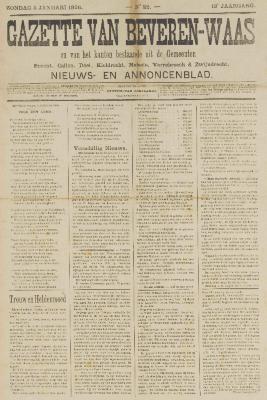 Gazette van Beveren-Waas 05/01/1896