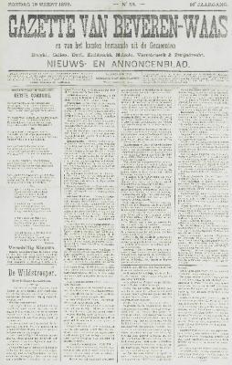 Gazette van Beveren-Waas 19/03/1899