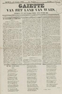 Gazette van het Land van Waes 15/02/1846