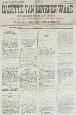 Gazette van Beveren-Waas 02/01/1887