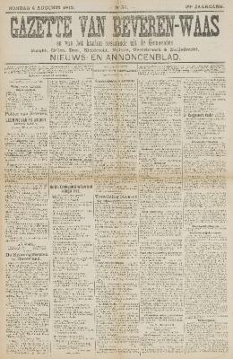 Gazette van Beveren-Waas 04/08/1912