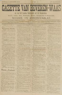 Gazette van Beveren-Waas 11/10/1896
