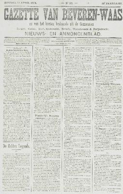 Gazette van Beveren-Waas 14/04/1901