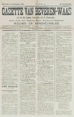 Gazette van Beveren-Waas 30/10/1892