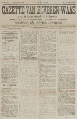 Gazette van Beveren-Waas 11/01/1891