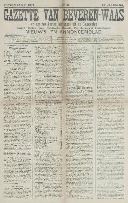 Gazette van Beveren-Waas 26/05/1907