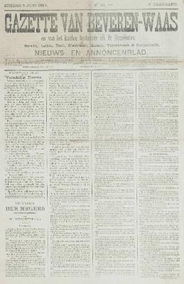 Gazette van Beveren-Waas 05/06/1887
