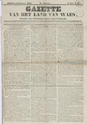Gazette van het Land van Waes 12/02/1843