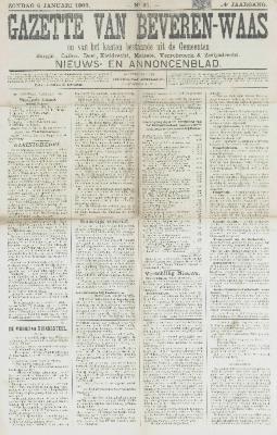 Gazette van Beveren-Waas 06/01/1907