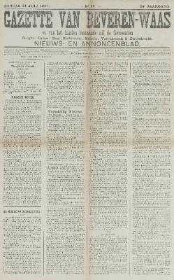 Gazette van Beveren-Waas 21/07/1907