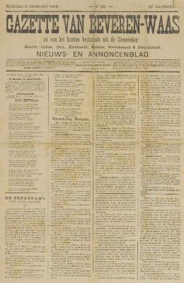Gazette van Beveren-Waas 02/01/1898