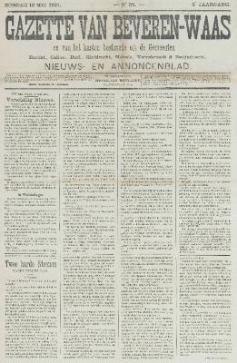 Gazette van Beveren-Waas 10/05/1891