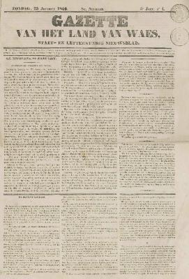 Gazette van het Land van Waes 25/01/1846