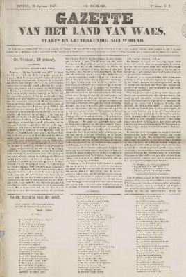Gazette van het Land van Waes 31/01/1847