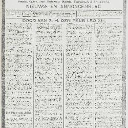 Gazette van Beveren-Waas 26/07/1903