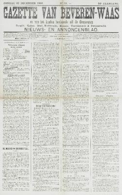 Gazette van Beveren-Waas 23/12/1906
