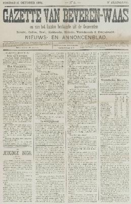 Gazette van Beveren-Waas 11/10/1891