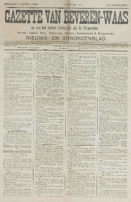 Gazette van Beveren-Waas 09/04/1893