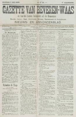 Gazette van Beveren-Waas 05/05/1889
