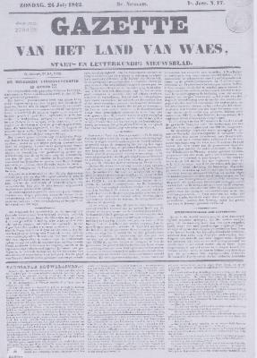 Gazette van het Land van Waes 24/07/1842