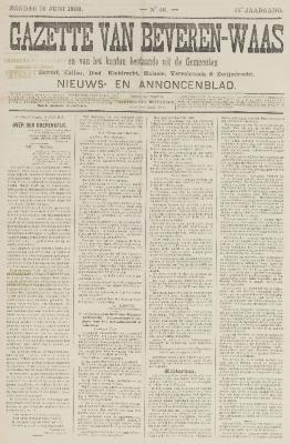 Gazette van Beveren-Waas 19/06/1898