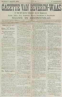 Gazette van Beveren-Waas 06/03/1892
