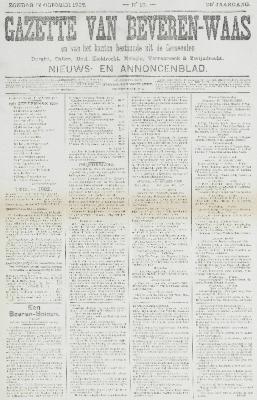 Gazette van Beveren-Waas 12/10/1902